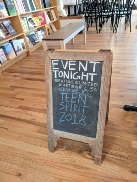 2018 Literati Party - Event Sandwich Board Sign