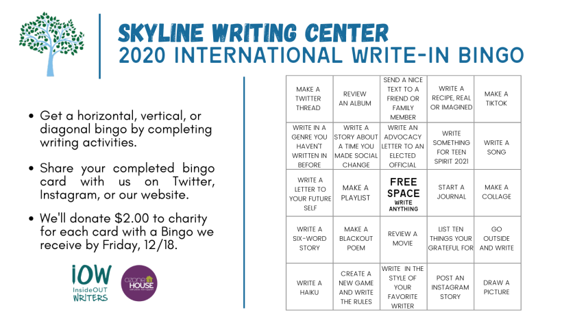 International Write-In Bingo Card - Twitter